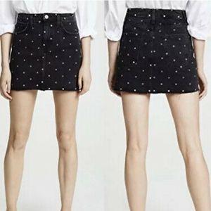 Current Elliot  5 pocket mini skirt polka dot